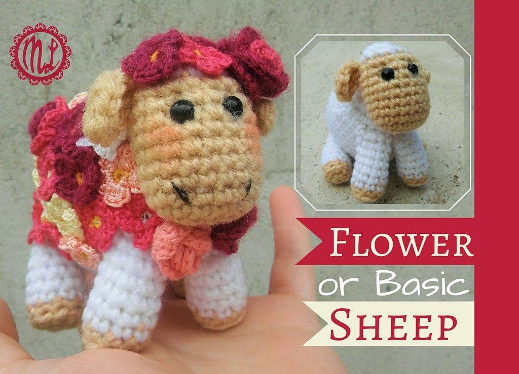 Flower Sheep Free Amigurumi Crochet Pattern The Magic Loop