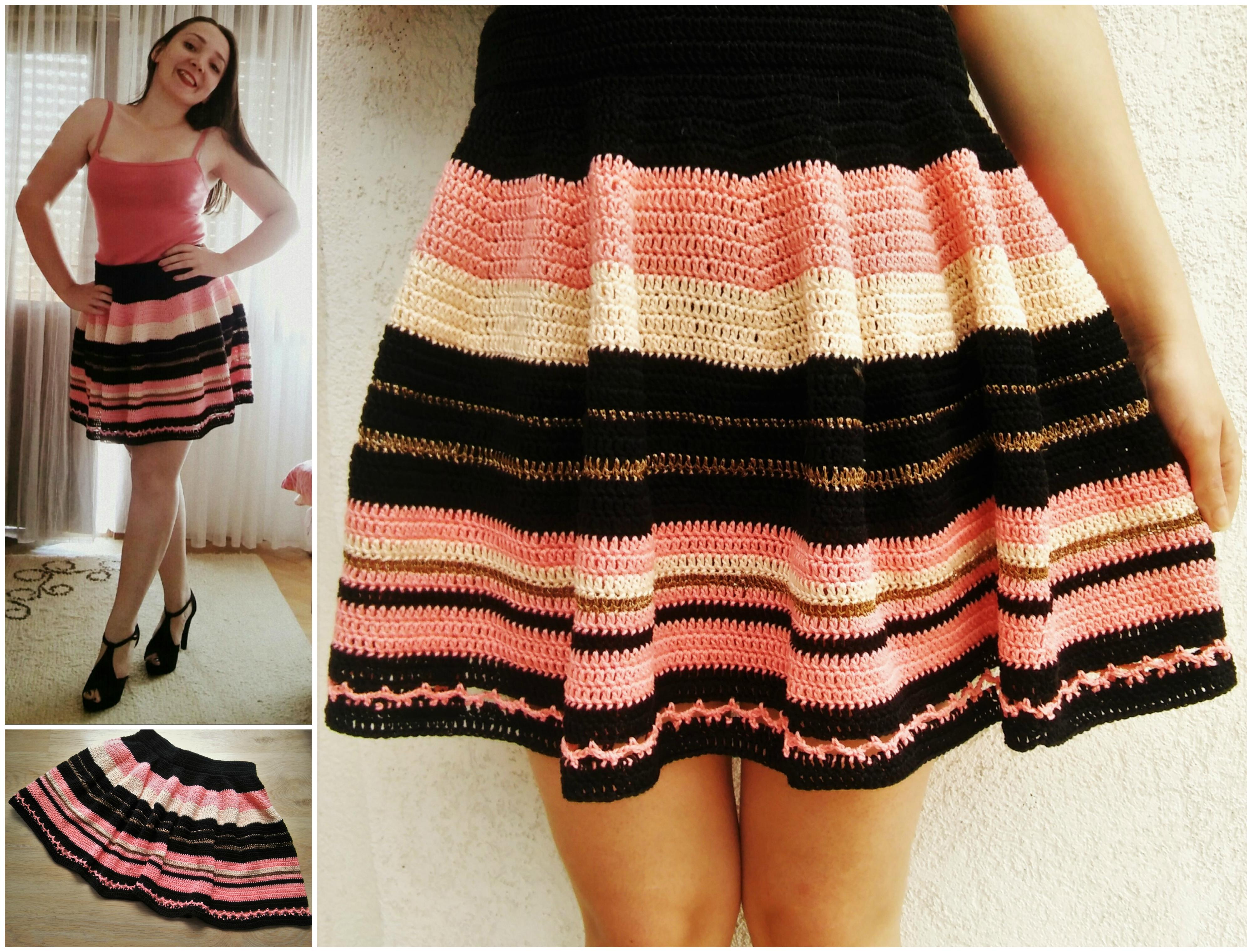Crochet Skater Skirt 183 The Magic Loop