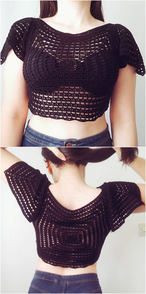Geometric Crop Top Free Crochet Pattern The Magic Loop