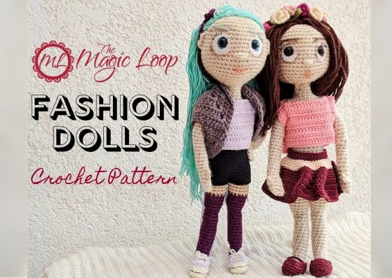 Tilda doll dress crochet pattern / Large doll outfit | 397x559