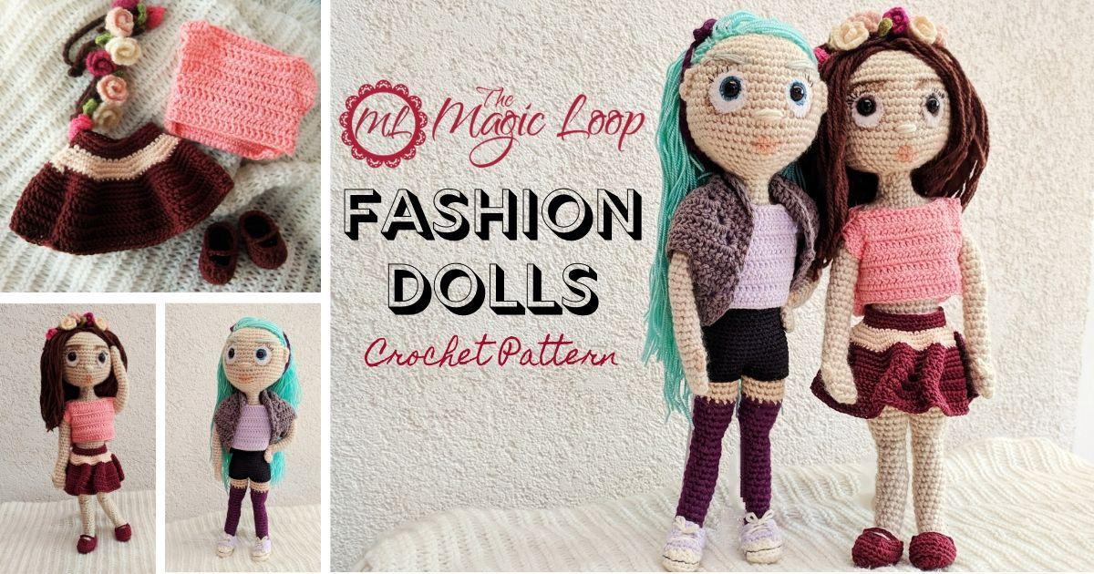 Realistic doll crochet | 630x1200