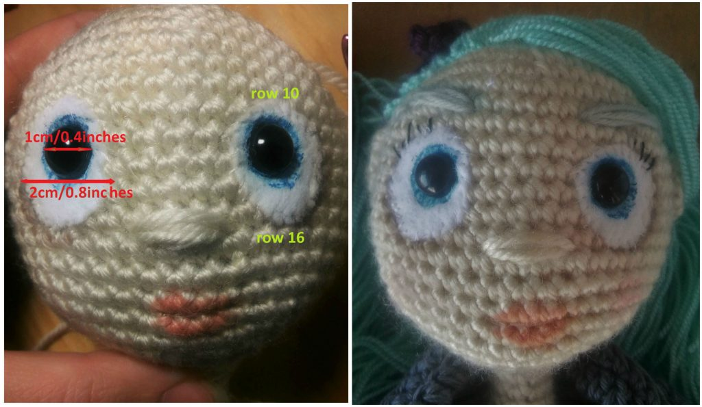 Amigurumi eyes. Realistic painted eyes for crochet doll. 108   Etsy   595x1024